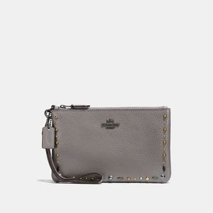 NWT Coach RARE rivets wristlet!! PRICE FIRM